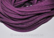 Mockaband av äkta läder 2,6x1,7mm - Purple
