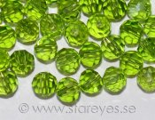 Runda facetterade kristaller 4mm - Lime Green