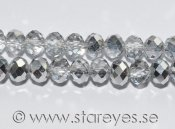 Facetterade kristall-rondeller 6x4mm - Crystal CAL
