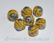Indonesiska pärlor 15x14mm - Yellow