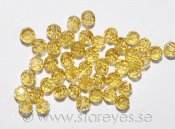 Facetterade runda kristaller 3mm - Citrine