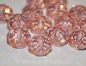 Facetterade kristall-rondeller 8x5mm - Light Pink AB