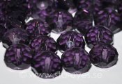 Facetterade kristall-rondeller 8x5mm - Dark Violet