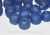 "Bottle-glass beads ""Sapphire Blue"", 12-13mm"