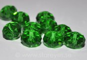 Facetterade kristall-rondeller 10x7mm - Bright Green