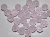 Runda facetterade kristaller 4mm, Light Pink Opal