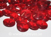 Diskformade kristall-rondeller 14x6mm - Cranberry Red