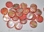 "Mother of Pearl ""Golden Salmon"", stora coins 20mm"