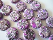 "Magnesit ""Purple Fantasy"", stora coins 20mm"