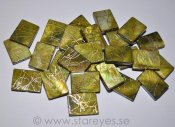 "Mother of Pearl ""Golden Olive"", stora rektanglar 20x15mm"