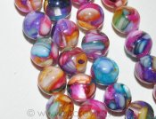 "Mother of Pearl mosaik ""Rainbow Kaleidoscope"", runda pärlor 8mm"