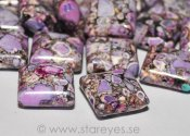 "Magnesit ""Purple Fantasy"", pressade fyrkanter 15x15mm"