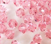 Swarovski bicone #5301, Light Rose 4mm