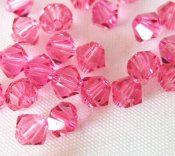Swarovski bicone #5301, Rose 4mm