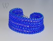 Beadwork armband - TROPICAL WATERS