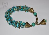 Beadwork armband - SEASHORE TREASURE