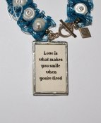 Shabby Chic Collection armband - LOVE IS WHAT MAKES YOU SMILE