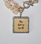 Shabby Chic Collection armband - YOU LIGHT UP MY LIFE
