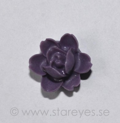 Ros flatback i resin 12x12x6mm - Purple
