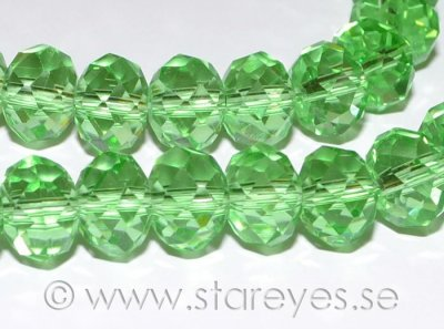Facetterade kristall-rondeller 10x7mm - Chrysolite