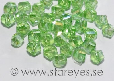 Helix-facetterade kristaller 4mm, Chrysolite AB