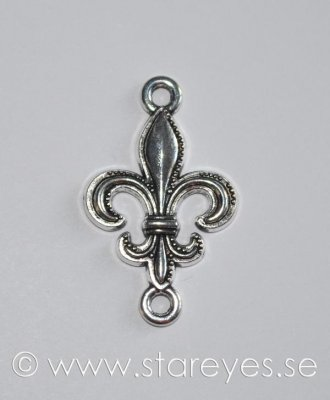 Antiksilverfärgad connector 34x20mm - Fleur de Lis