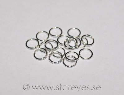 Sterling silver motringar, 6x0,7mm