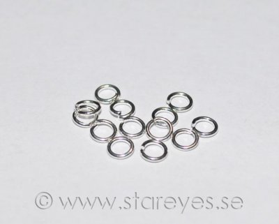 Sterling silver motringar, 4x0,7mm